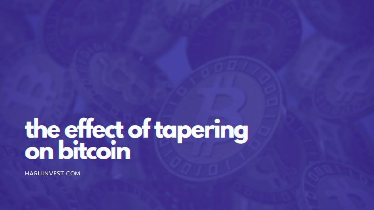 The Effect of Tapering on Bitcoin