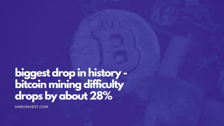 biggest drop in history - bitcoin mining difficulty drops by about 28%