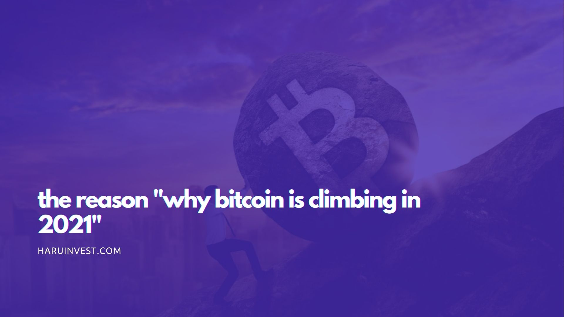 the reason why bitcoin is climbing in 2021